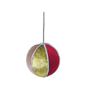 Objects and Ornaments Ornament Ball Red Green Beige Christmas Ornament