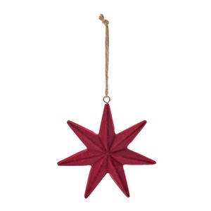 Rouge Star Ornament Red Christmas Ornament