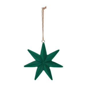 Rouge Star Ornament Green Christmas Ornament