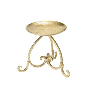 Candle Stand Gold Flower Material Candle Glass Stand