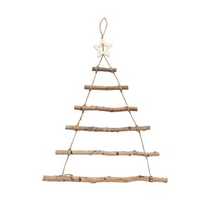 Hang Wood Tree Natural Base Christmas