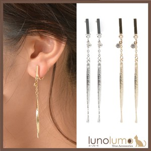 Earring Ladies Metal Metal Gold Silver Line Casual