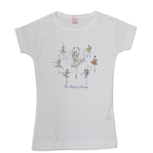 Ladies Short Sleeve T-shirt Beautiful Woman Ballet