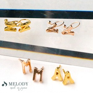 [ 2020NewItem ] Resin Hall Pierced Earring Pierced Earring Direct Connection Initial