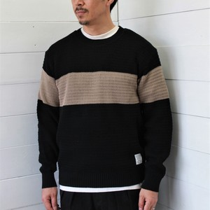 Basic Fit Deformation 2 Tone Knitted