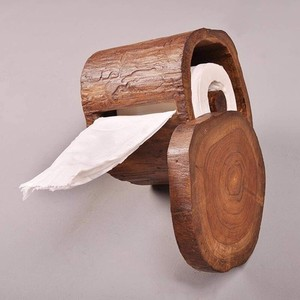 [ 2020NewItem ] Wood Toilet paper holder Storage Toilet Antique
