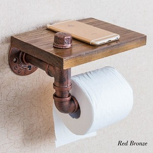 [ 2020NewItem ] Pipe Toilet Paper Holder Bronze Interior