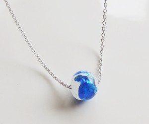Original Color Firefly Glass White Necklace 10mm