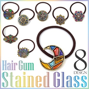 Sten Glass Hair Elastic Colorful Design Ladies Fancy Goods Accessory