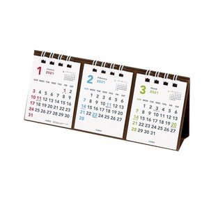 Calendar Basic PuchiPuchi Table-top 3Months Notebook Calendar