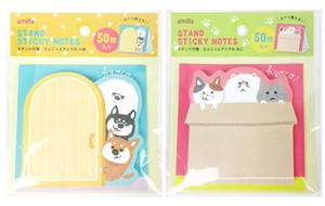Stand Up Stand Sticky Note 50 Pcs Animal 12 Pcs