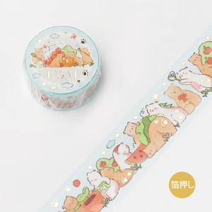 [BGM] Washi Tape  / Masking Tape Foil Stamping Animal Party Rest