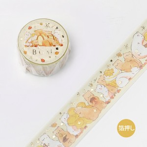 [BGM] Washi Tape  / Masking Tape Foil Stamping Animal Party Honey 20mm AP