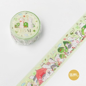 [BGM] Washi Tape  / Masking Tape Foil Stamping Animal Party Camp
