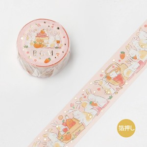 [BGM] Washi Tape  / Masking Tape Foil Stamping Animal Party Picnic
