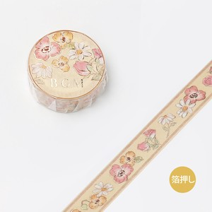 [BGM] Washi Tape  / Masking Tape Foil Stamping Fairy tale Flower