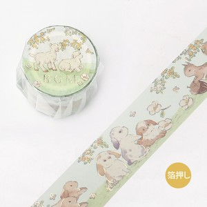 [BGM] Washi Tape  / Masking Tape Foil Stamping Fairy tale Animals