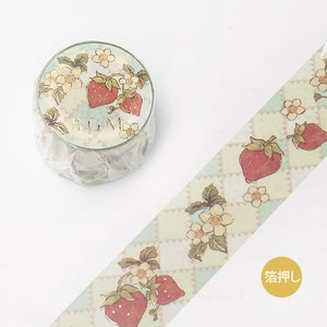 [BGM] Washi Tape  / Masking Tape Foil Stamping Fairy tale Strawberry