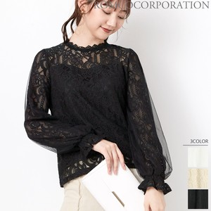 A/W Lace Combi Long Sleeve Blouse