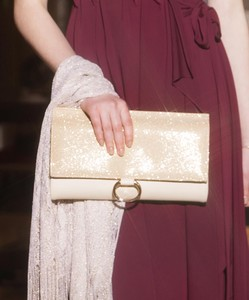 lame Fake Leather Clutch Bag