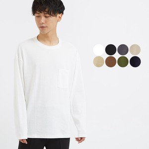 A/W 8 Colors ponte fabric Pocket Crew Neck