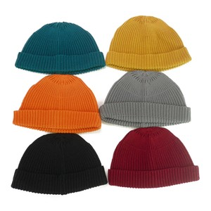 All Cotton Short Knitted Watch Cap Young Hats & Cap