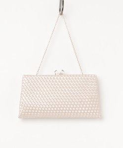 Leather Mesh Processing Clutch Bag