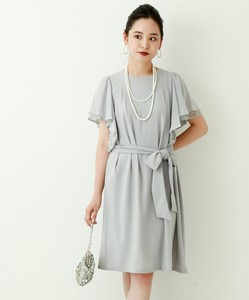 Raffle Frill One-piece Dress Dress