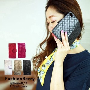 Limited Stock iPhone Weaving Notebook Type Design Case Black