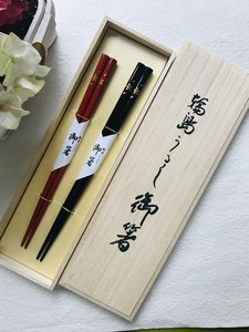 Leap Chopstick Hand-Painted Makie Flower Letter Couple Chopstick Chopstick