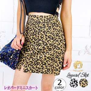 """2020 New Item"" Skirt Pants Short Leopard Beautiful Legs Stretch White Camel"