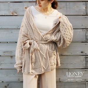 A/W Cable Knitted Robe Cardigan S/S