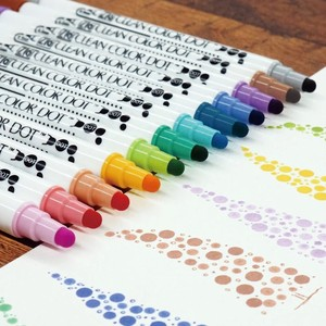 non-permanent marker pens Dot 12 color set