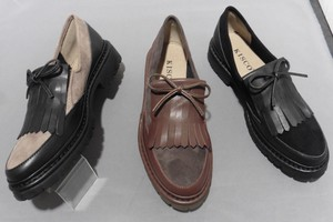 A/W 3 Colors Genuine Leather Stretch Combi Quilt Shoes