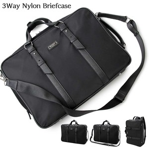 Water-Repellent Processing High Density Nylon 3WAY Brief Case Backpack Business Bag