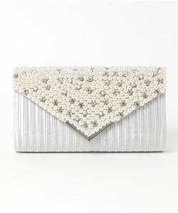Pearl Bijou Flap Party Clutch Bag