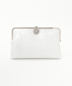 Bijou Buckle Processing Leather Clutch Bag
