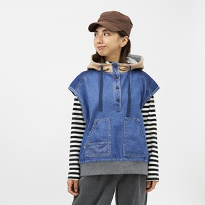 A/W Denim Switching Design Food Vest