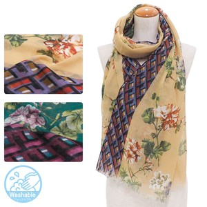 20 20 Big AL Floral Pattern Geometric Design Switch Thin Stole