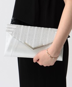 lame Stripe Flap Clutch Bag