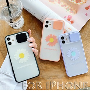 iPhone Case Impact Clear Flower Camera Protection Attached