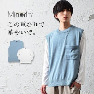 Knitted Vest Long T-shirts Mino