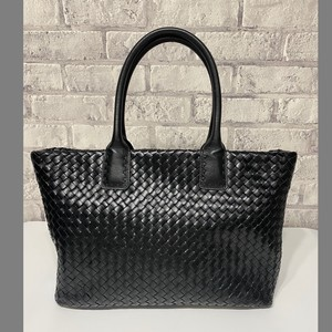 Genuine Leather Cow Leather Hand Knitting Included Tote Bag