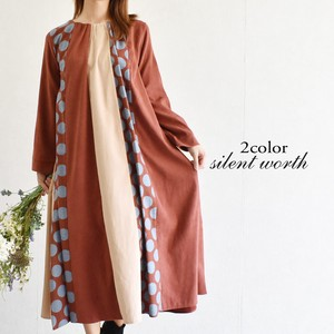 A/W Dot Patchwork Switching One-piece Dress
