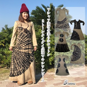 T-shirt Material Soft Cotton Long Sleeve One-piece Dress Cut And Sewn Asia Ethnic