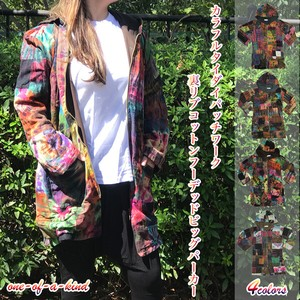 Patchwork Cotton Hoody Hoody Coat Asia Coat Outerwear