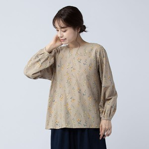 peniphass Cuff Tuck Print Blouse