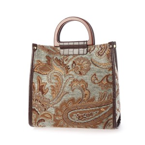 Run Wood Handle 2-Way Tote Bag