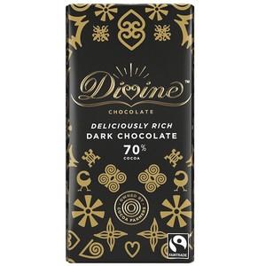 【予約販売】Divineフェアトレードチョコレート 70%ダーク 90g