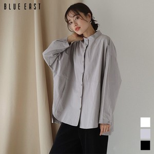 """2020 New Item"" Long Sleeve Band Color Shirt Blouse"